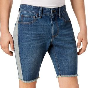 AMERICAN RAG BLUE COLOR BLOCK DENIM SHORTS SIZE 29